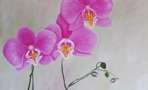 Acrylgemälde, Blumen,