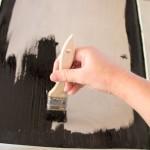 DIY: Schultafel selbst machen mit Tafellack schwarz