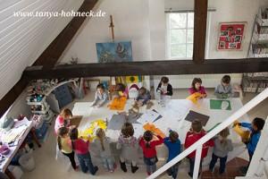 Kindergeburtstag basteln im Atelier
