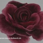 Gemälde Rote Rose auf Ölfarbe auf Leinwand