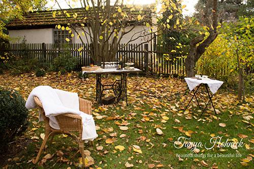 Gartenparty im Herbst