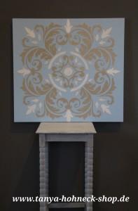 Workshop Kreidefarben und Dekorationstechniken, Schablonenmalerei mit chalk paint