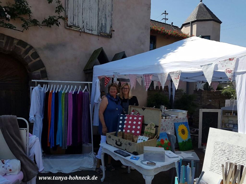 Besuch einer lieben Freundin, Tanya Hohneck, Atelier & Shop, Ausstellung bei Hennrich & Bothe, Autentico Chalk paint Kreidefarbe