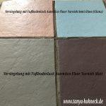 Fliesen streichen und Fußboden versiegeln, Fußbodenlack Autentico Floor Varnish, Frescolini, Autentico chalk paint Kreidefarbe