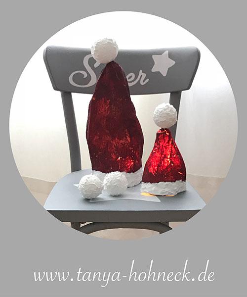 Nikolausmützen, basteln, Stoffsteif, Anleitung, Kind, Weihnacht, think red, oxblood, falunrot, schwedenrot, Autentico, chalk, paint, kreide, farbe, deutschland, shop, stockist, haendler