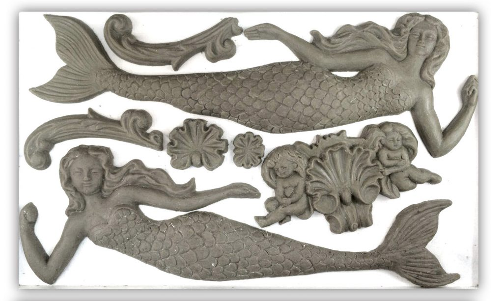 IOD Mermaid Sea Sister Anleitung mould Kreidefarbe Iron Orchid Design DIY Autentico