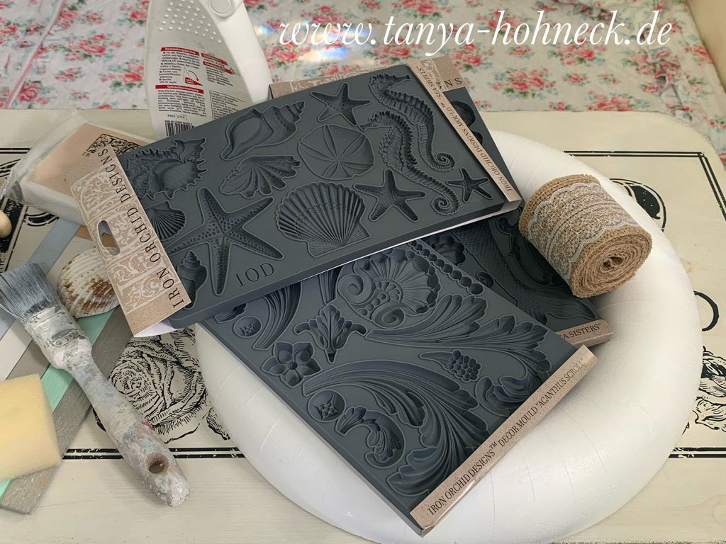 Anleitung, Tutorial, Video, Silikonformen, IOD mould Iron Orchid Designs SEA SHELLS, ACANTHUS SCROLL, SEA SISTERS